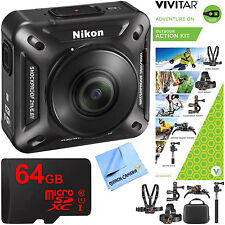 Nikon KeyMission 360 4K Ultra HD Action Camera w/ Built-In Wi-Fi + Outdoor Actio