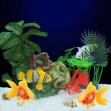 3PCS Plastic Faux Fake Swimming Gold Fish Aquarium Fish Tank Decor Ornament