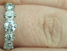 Lovely Antique Old European Cut 5 Diamond Ring Band 18k!