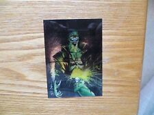 1994 CHAOS COMICS EVIL ERNIE CLEAR CHROME CHASE CARD SIGNED JAE LEE ART,WITH POA