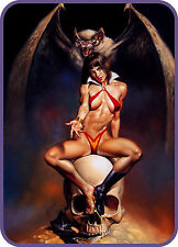 SEXY GIRL SUCCUBUS DEMON VAMPIRE REFRIGERATOR FRIDGE MAGNET NAKED NUDE TOOLBOX