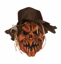 Scarecrow Skull Mask and Hat Halloween Fancy Dress Accessory