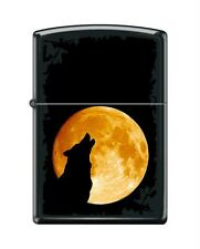 Zippo 6026 wolf howling at the moon black matte finish Lighter