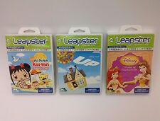 Set of 3 Games for Leapster -- Pixar's Up; No Hao, Kai-Lan; Disney Princess