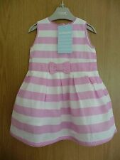 JoJo Maman Bebe New Pink & Cream Party Dress £21 3-6 months Baby Girl Beautiful