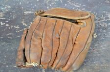 VINTAGE COOPER WEEKS Brown Leather BASEBALL GLOVE Bat Sports Prop Antique Ball