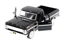 "1:24 Scale Motor Max 1969 Ford F-100 Pickup truck diecast model 8"" Long BLACK"
