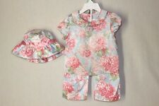 JANIE and JACK Baby Girl 18M 24M Pants Dress Bucket Hat Floral Set Outfit Cotton