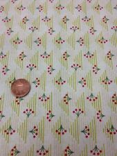 Floral Fabri-quilt 100% Cotton Quilt fabric By 1/2 Mtr Yellow Green Floral