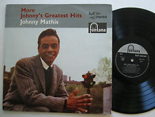 LP JOHNNY MATHIS-more GREATEST HITS-UK Fontana Stereo-Call me let It Rain