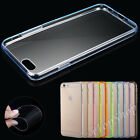 Clear Transparent Hard Back Silicone Gel TPU Bumper Case Cover For Apple iPhone