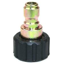 "Quick Connect Coupler Plug 3/8"" Steel Plug x M22 Female Threads - PW7156"