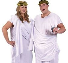 Griego Romana Toga Para Hombre Unisex señoras Fancy Dress Costume Plus Talla Xxl