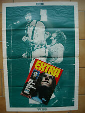 EXTRA 41 poster THE WHO / Peter GABRIEL MOTT THE HOOPLE KING CRIMSON KIM FOWLEY