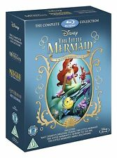 LITTLE MERMAID Trilogy Bluray Movie Collection Boxset Part 1 2 3 Original Disney