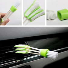 Mini Car Air Condition Outlet Gap Cleaner Dust Cleaning Fine Fiber Cloth Brush
