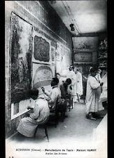AUBUSSON (23) USINE de TAPIS HAMOT , ATELIER des ARTISTES animé début 1900