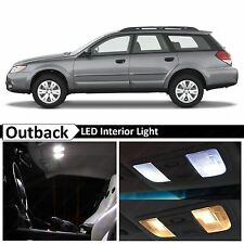 9x White LED Lights Interior Package Kit for 2000-2008 Subaru Outback