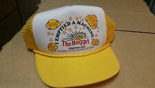 Vintage Mesh Trucker Hat I Emptied A Machine The Nugget Reno NV Yellow Snapback