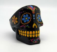 Black Sugar Skull Mexican Day of the Dead Dia de Los Muertos Ashtray