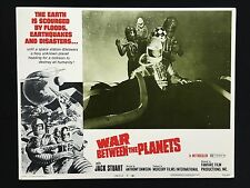 WAR BETWEEN THE PLANETS Sci Fi 1971 Original Lobby Card MST3K Cult Space Epic 3