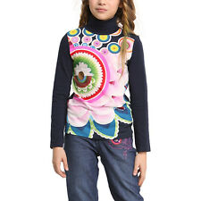 T-shirt da bambina Desigual lunga modello Parauta 48T3052-5096-4