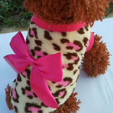 Animal Leopard Print Clothing Warm Fleece Pet Clothes Teddy for Puppy Dog KJ20