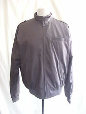 Ladies Coat - POP, size L, bomber-style, brown, zip up, casual, polycotton 7413