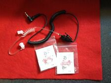Clear Tube 2.5mm R/A Listen Only Headset w2ea  K-FLEX Medium Ear Mold Ear Tip