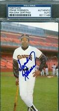 FRANK ROBINSON SIGNED TEAM ISS PHOTO PSA/DNA AUTOGRAPH AUTHENTIC