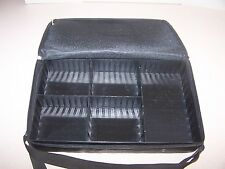 "Black ""Faux Leather""  Audio Cassette Tape (Fits 30) Storage Carrying Case"