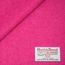 Harris Tweed Fabric Material With Labels Bubblegum Pink