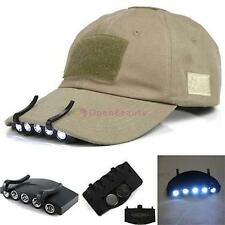 Clip-On 5 LED Cap Head Light Headlamp Torch Outdoor Fishing Camping Hunting JS