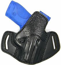 PREMIUM LEATHER OPEN TOP OWB BELT SLIDE HOLSTER for WALTHER PPS & GLOCK 26 27 33