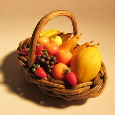 Panier de fruits ~ doll house miniature nourriture ~ 1 douzième
