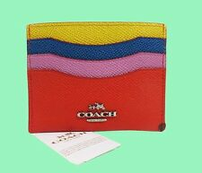 COACH 64859 Color-Block Flat Coin Card Case Msrp $45.00