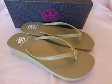 Tory Burch Wedge Thin Flip Flop Khaki Size 10 New In Box