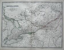 1868 LARGE VICTORIAN MAP : PROVINCE OF CANADA WESTERN SHEET