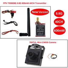 Upgraded TS5828S 5.8G 600mW 40CH Wireless AV Transmitter+HD 700TVL FPV Cam SY