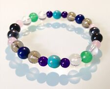 STRESS, ANXIETY & DEPRESSION - GEMSTONE CRYSTAL HEALING BEADED BRACELET