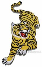 Tiger Iron Sew On Embroidered Patch Applique Motif Biker Badge Jeans Jackets