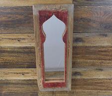"""PRIMITIVE RUSTIC LOOK DOOR PANEL WALL MIRROR 18"""" X 7"""""""