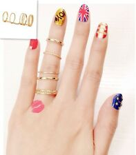 Lady Jewellery Fashion Ladies Jewelry Gold Chain Link Multi Loop Nice Ring