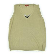 BURBERRY LONDON Damen Bluse UK 48 EU XXL Leinen Strech beige Woman Shirt Top NEU