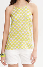NWT $79.50 Banana Republic Milly Printed Silk Halter Top