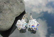 Crystal Bicone AB 6mm Large 925 SILVER EARRINGS made with SWAROVSKI ELEMENTS