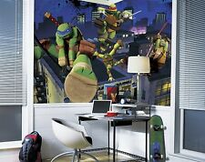 New XL TEENAGE MUTANT NINJA TURTLES PREPASTED WALLPAPER MURAL ~ TMNT Wall Decor