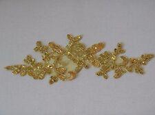 Con lentejuelas doradas Floral encaje y apliques de Novia Boda Adorno De Encaje Con Lentejuelas vendidos por PC