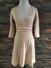 Patagonia Small Faux Wrap Ruched Waist Floral Print Dress Organic Cotton