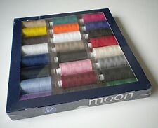 Box 24 Reels * MOON Polyester SEWING THREAD 1000 Yd * IDEAL GIFT